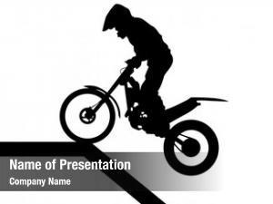 Man sport motorcycle white