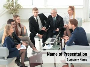 Sitting business people corporate meeting