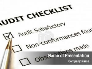 Silver audit checklist gold ballpoint