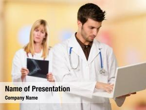 Laptop doctor using front female