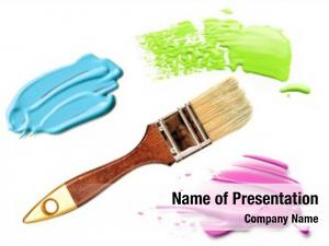 Color paint brush oil paint