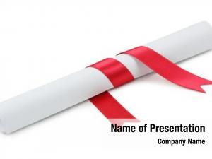 Diploma on white