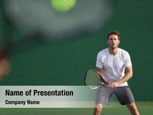 Tennis player focused