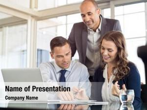 Group of colleagues powerpoint theme