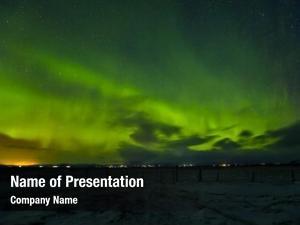 Beautiful aurora powerpoint template