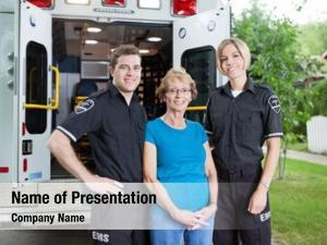 Ambulance portrait two patient
