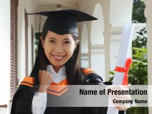 Certificate woman get graduation