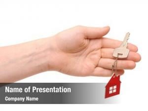 Key hand holding key chain shape