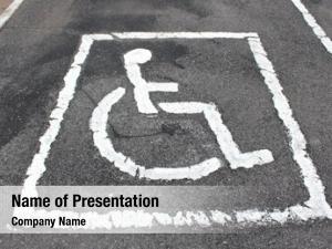 Sign handicapped parking parking lot