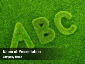 Abc alphabet letters made grass