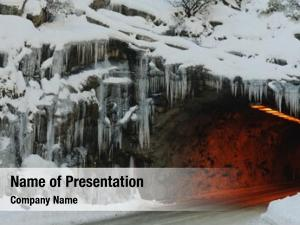 Tunnel entrance powerpoint template