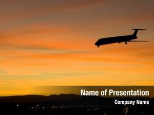Runway airbus approaching landing