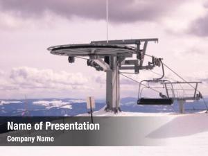 Chairlift top mountain ski resort