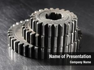 Cog old metallic gears different
