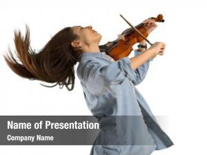 Violinist playing young woman