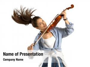 Instrument playing violin