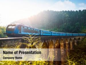 Train passing powerpoint background