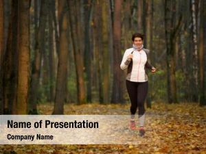 Woman full length photo morning run