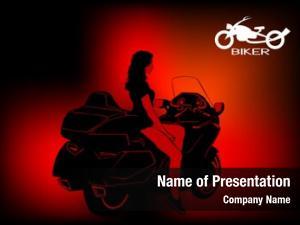 Modern beautiful women sport motorcycle