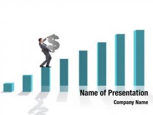 Dollar businessman carrying sign economic