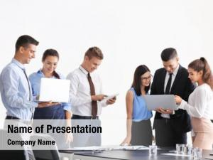 Consulting team young experts business