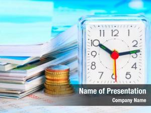 Business alarm clock documents