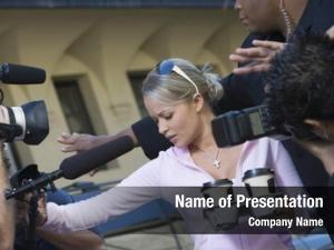 Celebrity closeup female paparazzi