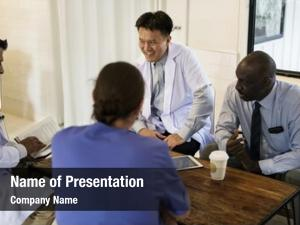 Discussion group of diverse doctors