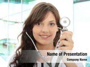 Stethoscope female doctor focus stethoscope