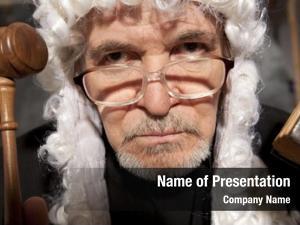 Judge old male courtroom striking