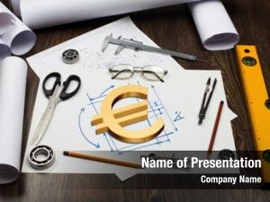Table tools papers financial symbols