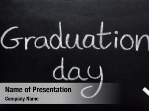 Written graduation day, blackboard
