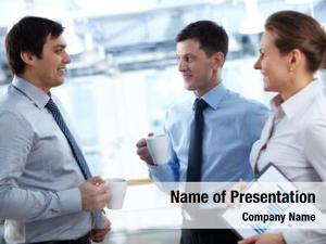 Having business team break discussing