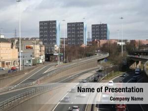 Glasgow urban motorway scotland