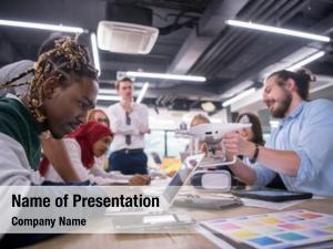 Business multiethnic startup team discussing