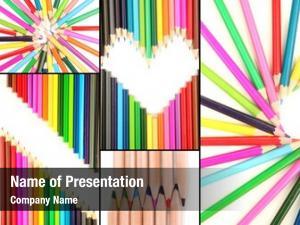 Collage color pencils