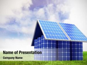 Made model home solar panels