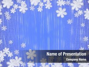 Frame winter snowflake