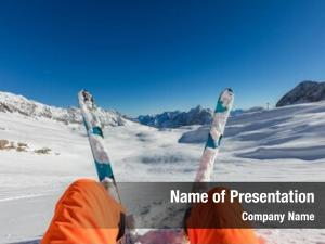 Skier sitting powerpoint theme