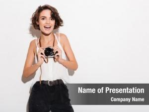 Picture of excited woman