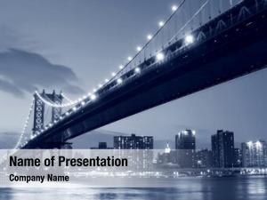 Manhattan manhattan bridge skyline night