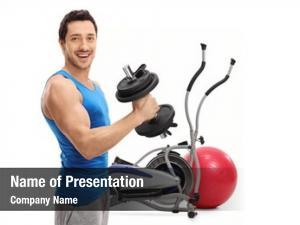 Cross training young man exercising