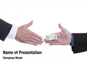 Money business handshake being exchanged