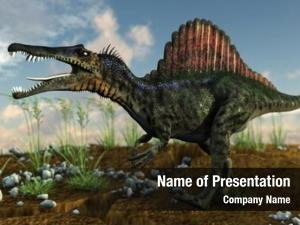 Spinosaurus in savanna
