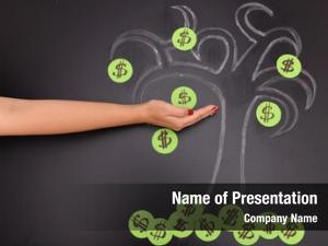 Tree chalk dollar female hand