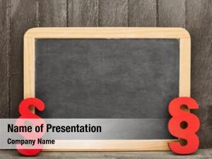 Law blank blackboard law concept