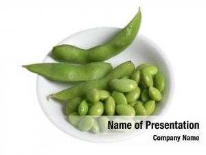 Green white bowl beans soy