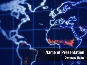 Lcd world map screen