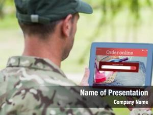 Using army man tablet against