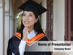 Woman wearing graduation